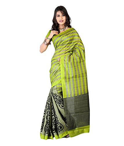 Janasya women's multi-coloured Bhagalpuri Silk motif Printed Sarees (JNE0343)