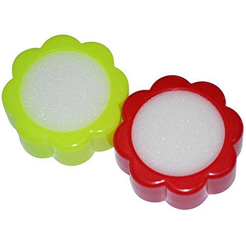 Wuudi Kunststoffgehäuse Schwammzylinder, Schwammbehälter für Kassierer (rot/gelb)