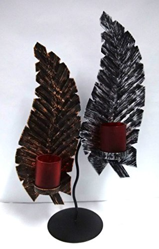 Gorgeous Rusted Leaf Design Tea light holder/ Candle Stand for Home decoration.