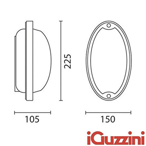Iguzzini Ellipse 7113 applique plafoniera per esterni E27