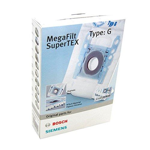 Siemens VZ41AFG Sacchetto per Aspirapolvere Mega Filt Supertex, Tipo G