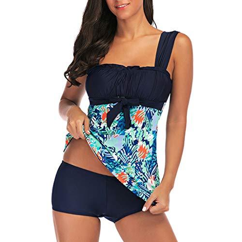 DIPOLA Damen Badebekleidung mit großem Aufdruck Beachwear Badebekleidung mit großem Aufdruck konservativer Badeanzugrock mit schmalem Aufdruck