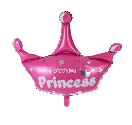 (Kaalido Princess Krone Pink Folienballon/ Luftballons 40cm Babyshower Geburtstag Jubiläum Deko)