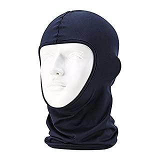 AZX Breathable Unisex Full Face Mask Outdoor Sports Cycling Motorcycle Lycra Balaclava Windproof Sunproof Dustproof For Hiking Camping (Navyblue)