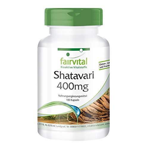 Shatavari cápsulas 400mg - VEGANO - Altamente dosificado - 180 cápsulas - Asparagus racemosus - ¡Calidad Alemana garantizada!