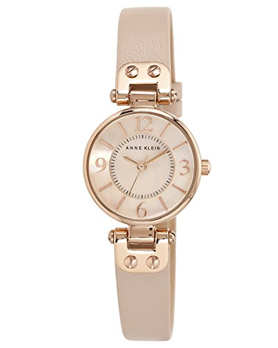 anne-klein-womens-manhattan-quartz-watch-with-rose-gold-dial-analogue-display-and-pink-leather-strap