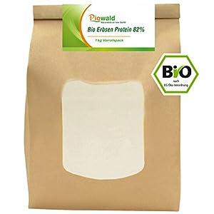 BIO Erbsenprotein 82% – Isolat – 1 kg Pulver Vorratspack, Pflanzliches Eiweißpulver, Vegan