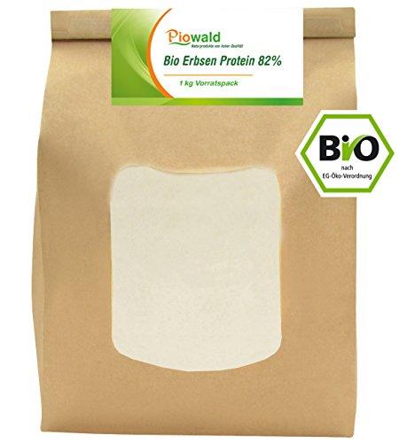 BIO Erbsenprotein 82% - Isolat - 1 kg Pulver...