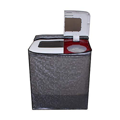 Lithara Washing Machine Cover for Videocon WM VS75Z13-DMA Zaara Grande Semi-Automatic Top-Loading 7.5 Kg Color Grey