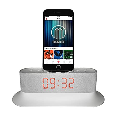 Mercury Speaker Docking Station Alarm Clock FM Radio Lightning Dock