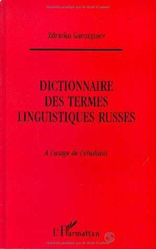 Dictionnaire des termes linguistiques russes à l'usage de l'étudiant