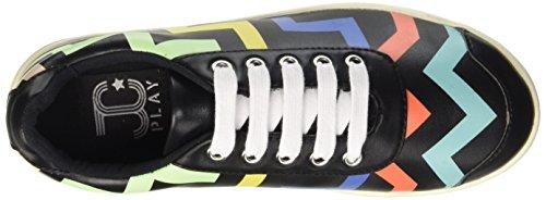 Jeffrey Campbell Zigzag, Scarpe da Cheerleader Donna Nero (Colorful Black)