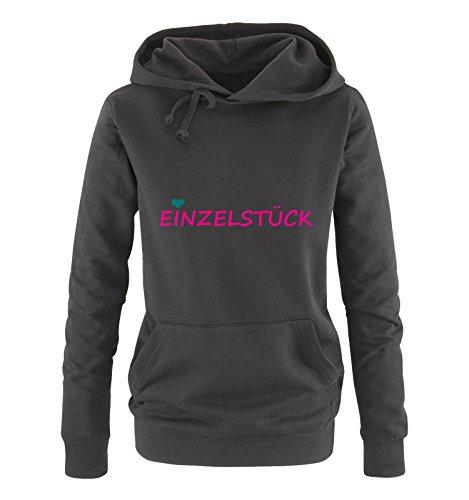 Comedy Shirts - Einzelstück - Style1 - Damen Hoodie - Schwarz/Pink-Türkis Gr. L (Love Pink Damen Hoodie-l)