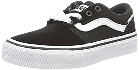 Vans Yt Chapman Stripe, Sneakers Basses garçon, Noir (Black/whitesuede/canvas), 39 EU