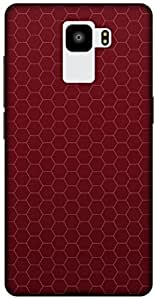 The Racoon Grip printed designer hard back mobile phone case cover for Huawei Honor 7. (RED HONEYC)