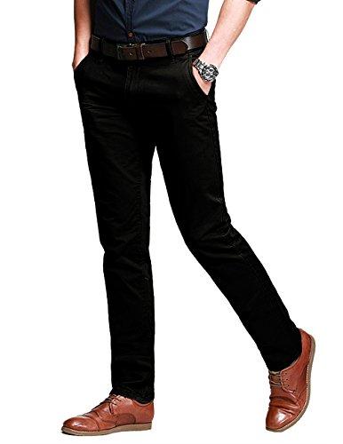 Match Uomo Pantaloni Casual Slim #8025 8116 nero