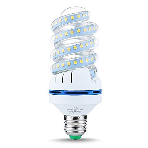 LOHAS® Ampoule Fluo-Compacte Led Spirale 6000K Blanc froid 1520lm,Culot E27,16 Watts Consommés Équivalence Incandescence 150Watt,2835 SMD Chip Led