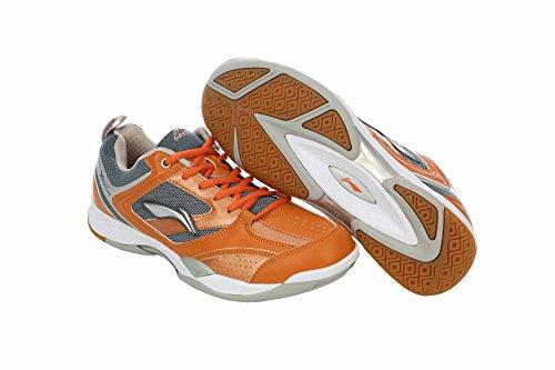 Li-Ning Speed Badminton Shoes, UK 5.5 (Orange/Grey)