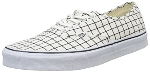 Vans Authentic, Sneakers Basses Mixte Adulte Blanc (Grid/True White)