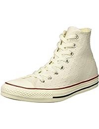 18efea79cda6 Converse Women s Chuck Taylor Perforated Stars High Top Sneaker  White Garnet Athletic Navy 4
