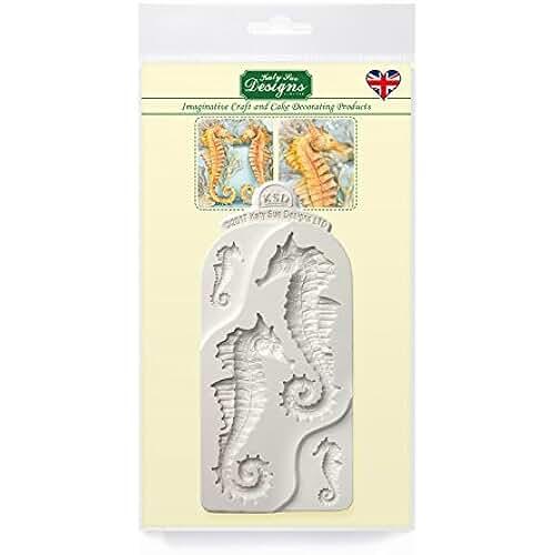 figuras kawaii porcelana fria Seahorses molde de silicona