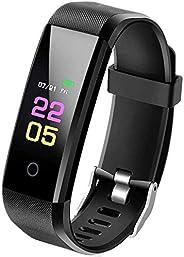 ANKM, braccialetto fitness con cardiofrequenzimetro, smartwatch per donne, uomini, bambini, compatibile con i-