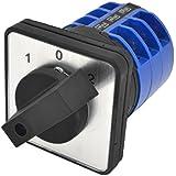 sourcingmap® LW28-32a / 3 Ui660V Ith 32A 3 Posiciones Conmutador giratorio negro Conmutador giratorio