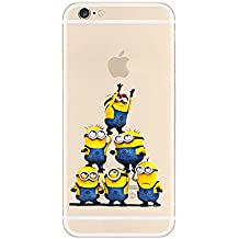 Sinergético TPU transparente funda Apple iphone 5/5S 5C. , 6/6S 6plus. Y 6plus S., 5 MINIONS, APPLE IPHONE 6 PLUS .s