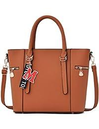 8eef8f23bd Women s V-Shape Handbags Leather Shoulder Bags Large Top-Handle Bags  Cross-Body