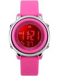 Orologio digitale orologi regali per ragazze - 5 atm impermeabile sport all' aperto per bambini con 7 retroilluminazione a LED, elettronico orologio sportivo per adolescenti per bambini da FORUNER