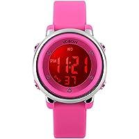 Relojes de pulsera digitales para niños Foruner, regalo para niñas, 5ATM impermeable para deportes al aire libre, reloj con retroiluminación 7 LED/alarma/fecha, reloj de pulsera deportivo electrónico multifuncional para adolescentes y niños