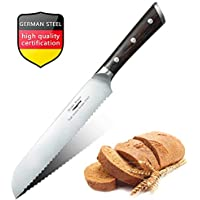 Cuchillo panero profesional de 20 cm, Cuchillo para Pan, Cuchillos de cocina Longitud Cuchillo