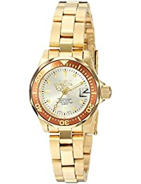 Invicta Pro Diver Women's Analogue Classic Quartz Watch with Stainless Steel Gold Plated Bracelet – 12527
