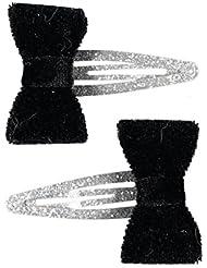 Schleife schwarz Klemme Klammer Spange Haar Spange   Vintage 8cm Haarspange