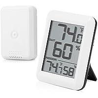 Wenquan,TS - FT0423 Higrómetro Digital inalámbrico Medidor de Temperatura/Humedad Medidor con Sensor Exterior(Color:Blanco)