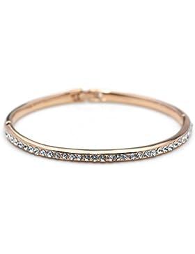❤Valentinstagsgeschenke❤ Silber Armband Strass Armkette Damen Weiß Luxus Elegant Neoglory Jewellery
