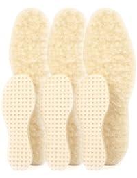 biped 3 pares de suelas de lana de cordero - con base de látex natural z2389