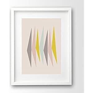Pastell Print ungerahmt mid century