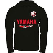 f796981c054a Black Stage Sweat à Capuche Yamaha imprimé à la Main Noir