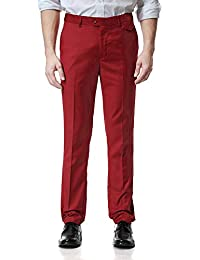 aa6018f85d9 Mens Formal Trousers Casual Business Office Work Slim Tapered Pants Straight  Leg Pockets Plus Size S