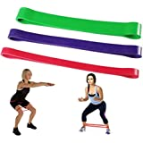 SANNYSIS 3Pcs Heavy Duty Exercise Resistance Bands For Women Loop Exercise Yoga Workout Power Gym Fitness For Physical Therapy