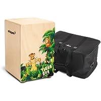 Schlagwerk cP 400 tiger box cajon avec housse pour enfant en bois de bouleau trommelkiste snareffekt, sacoche housse de transport de transport)