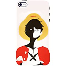 FUSON Luffy Statue With Hat 3D Hard Polycarbonate Designer Back Case Cover for Apple iPhone 5S
