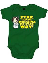 Body bebé Star Wars Star con mi madrina es Star Way Princesa Leia
