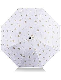 DORRISO Moda Plegable Paraguas Mini Linda Mujer Sombrilla Multiuso y Resistente al Viento Impermeable Anti-