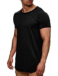 e818a87881d2 Indicode Herren Willbur Herren T-Shirt Oversize Slim Fit Poloshirt Hemd  V-Neck…