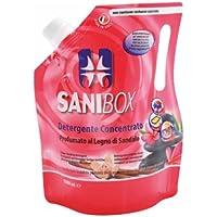 Sanibox Detergente Concentrato Elimina Odori Profumato Legno di Sandalo 1 Litro