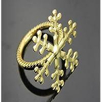 AIURLIFE Gli anelli di tovagliolo del fiocco di neve di Natale in lega (4 pezzi) , snowflake gold