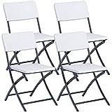 Resol Easy Rattan - Silla plegable, plástico, 54 x 44.50 x 80.50 cm, color blanco