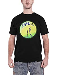 Genesis Homme T Shirt Noir Watchers Of The Skies Band Logo officiel
